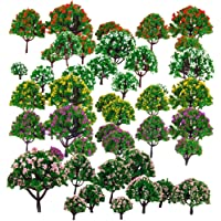 Segolike 50pcs Model Tree Model Train Park Trees for HO Scale Scenery 1:75-500 Layout