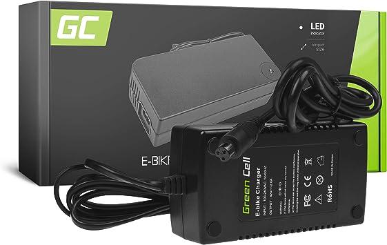 Green Cell® 42V 2A Cargador para 36V Batería Bicicleta Eléctrica ...