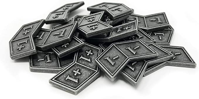 Magic The Gathering Trading Card Games Group Of 10 MTG PlusMinus Counters Tokens Game Counters Metal Game Pieces