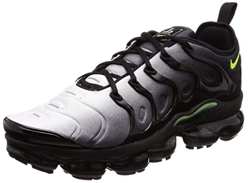 28e54440271 Nike Men s Air Vapormax Plus Shoe Black Volt White (9.5 D(M) US ...