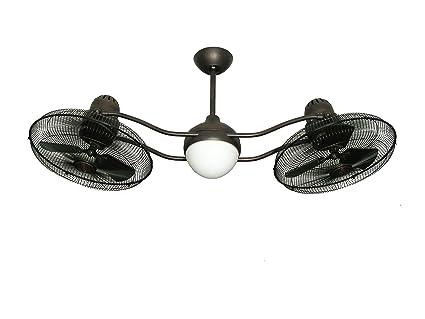 Troposair duet oscillating dual ceiling fan in oil rubbed bronze troposair duet oscillating dual ceiling fan in oil rubbed bronze aloadofball Images
