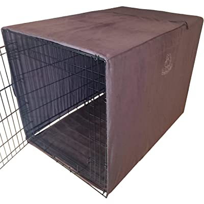 """Big 4in1 Dog Crate Cover/Car Seat & Furniture Protector/Microfiber Dog Towel. Most Popular Size 42""""x30""""x28"""" Covers Large Dog Breed Crates Kennels Cages Houses. Tough"""