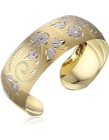 1b35e924169 14k Yellow Gold-Filled Hand Engraved Cuff Bracelet
