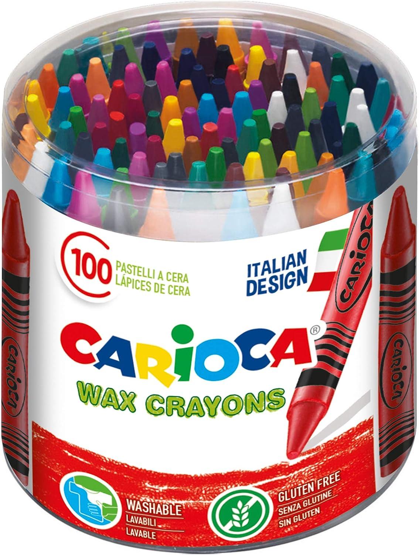 Carioca Wax | 42399 - Caja de Ceras, Colores Surtidos 100 Unidades: Amazon.es: Juguetes y juegos
