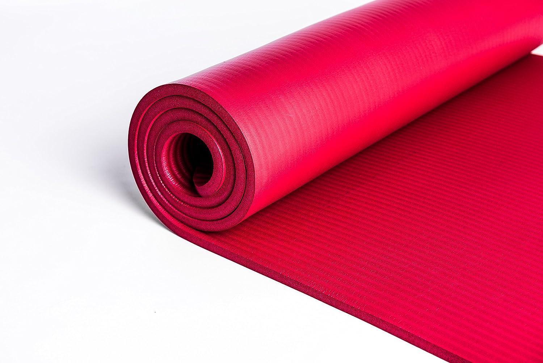 PHYSIO Tappetino anti scivolo spessore extra 12 mm con tracolla/ /In materiale NBR per tappetini imbottiti Yoga mat KG