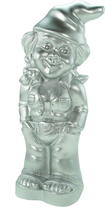 Enanito de jardín enano Mandy Plata Edition 34 cm PVC Jardín Figura: Amazon.es: Hogar