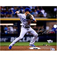 "$48 » Enrique Hernandez Los Angeles Dodgers Autographed 8"" x 10"" Fielding Photograph - Fanatics Authentic Certified"