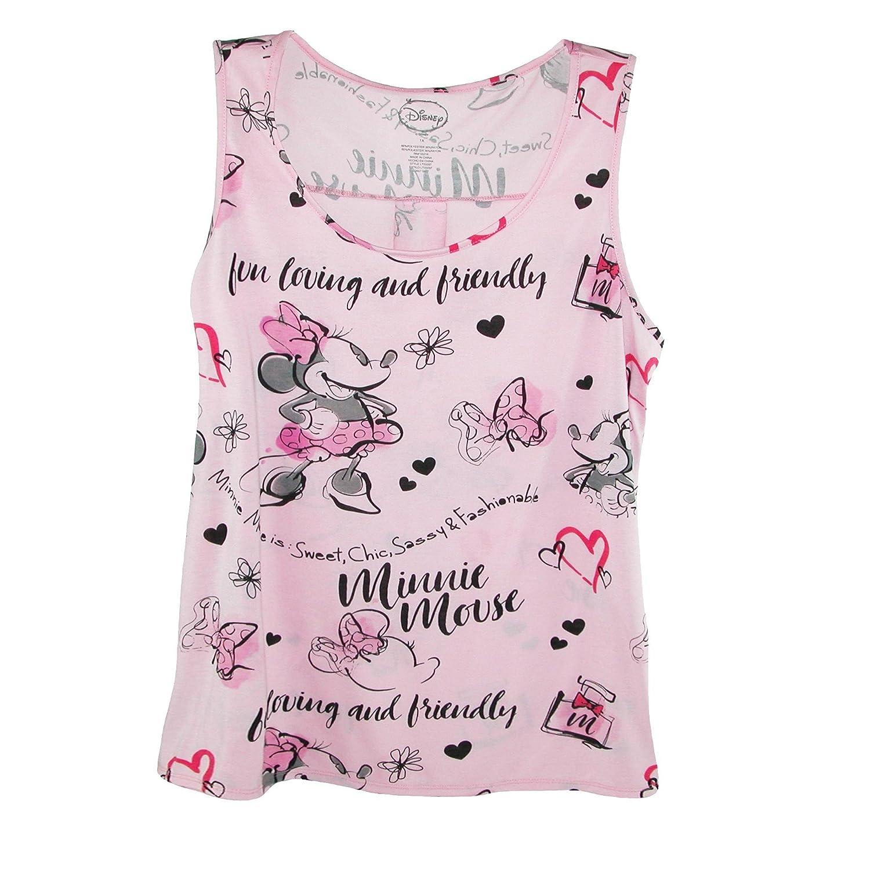 Disney - Camiseta sin mangas para mujer (talla grande), diseño de Minnie Mouse