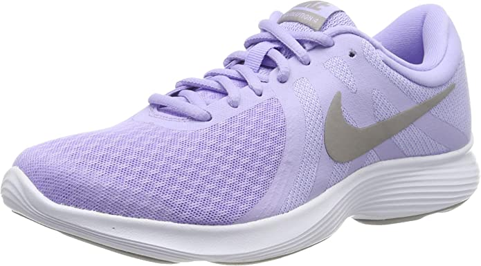Nike Revolution 4 Sneakers Laufschuhe Damen Lila mit grauen Streifen