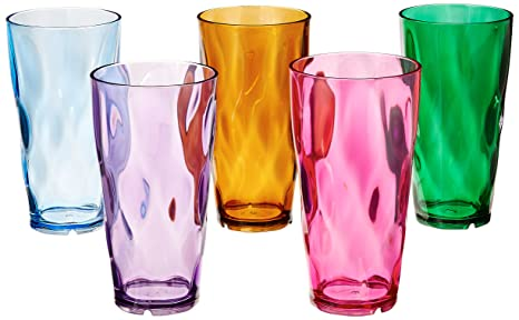 Circus 8-Pieces of 24-Ounce Multi-Colored BPA-free Tumbler Set