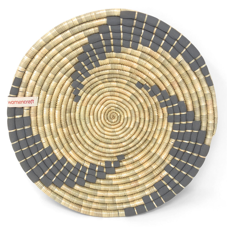 Amazon.com: WomenCraft Kitenge Bahari Round Wall Basket, Small: Home ...