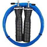 La massima qualità, Speed Rope, Corda per saltare di struttura Kangaroo Fitness/durevole & ergonomica antiscivolo per maniglie/ideale per double unders, Crossfit Workouts, MMA & boxe/Bonus eBOOK, Video Training & Extra corda