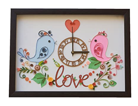 Buy Valentine Gift For Love Handcrafted Love Paper Quilling Wall