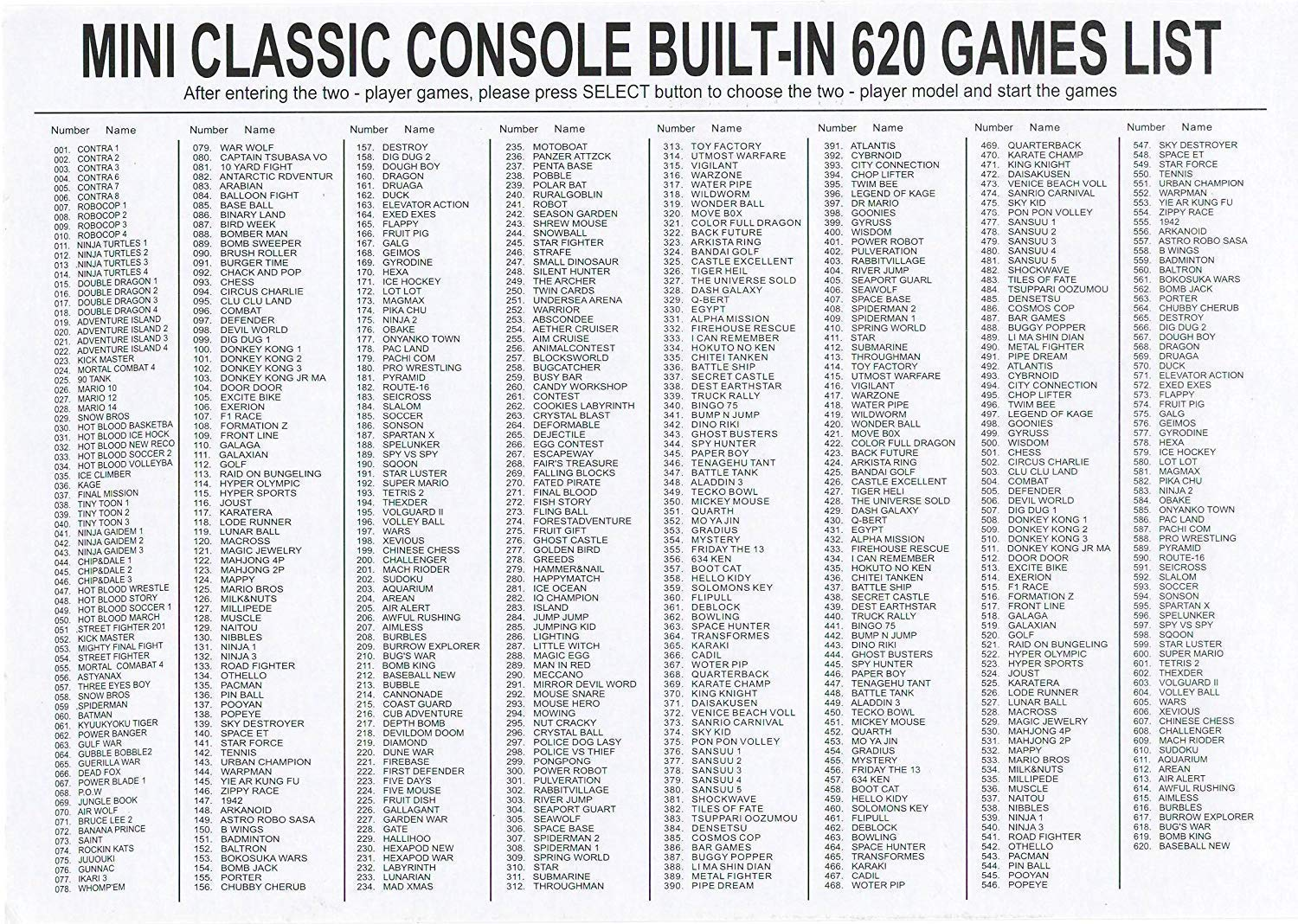 BEST BOX Classic Game Console Retro Childhood Game Classic Game Consoles Built-in 620 Childhood Classic Game Dual Control 8-Bit Console Handheld Game Player Console for Classic Games Family TV Video by BEST BOX (Image #8)