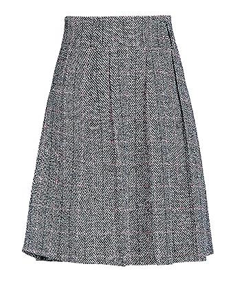 ab4d5c4128b91a chouyatou Women's Graceful Knee Length A-Line Pleated Midi Plaid Wool Skirt  (X-