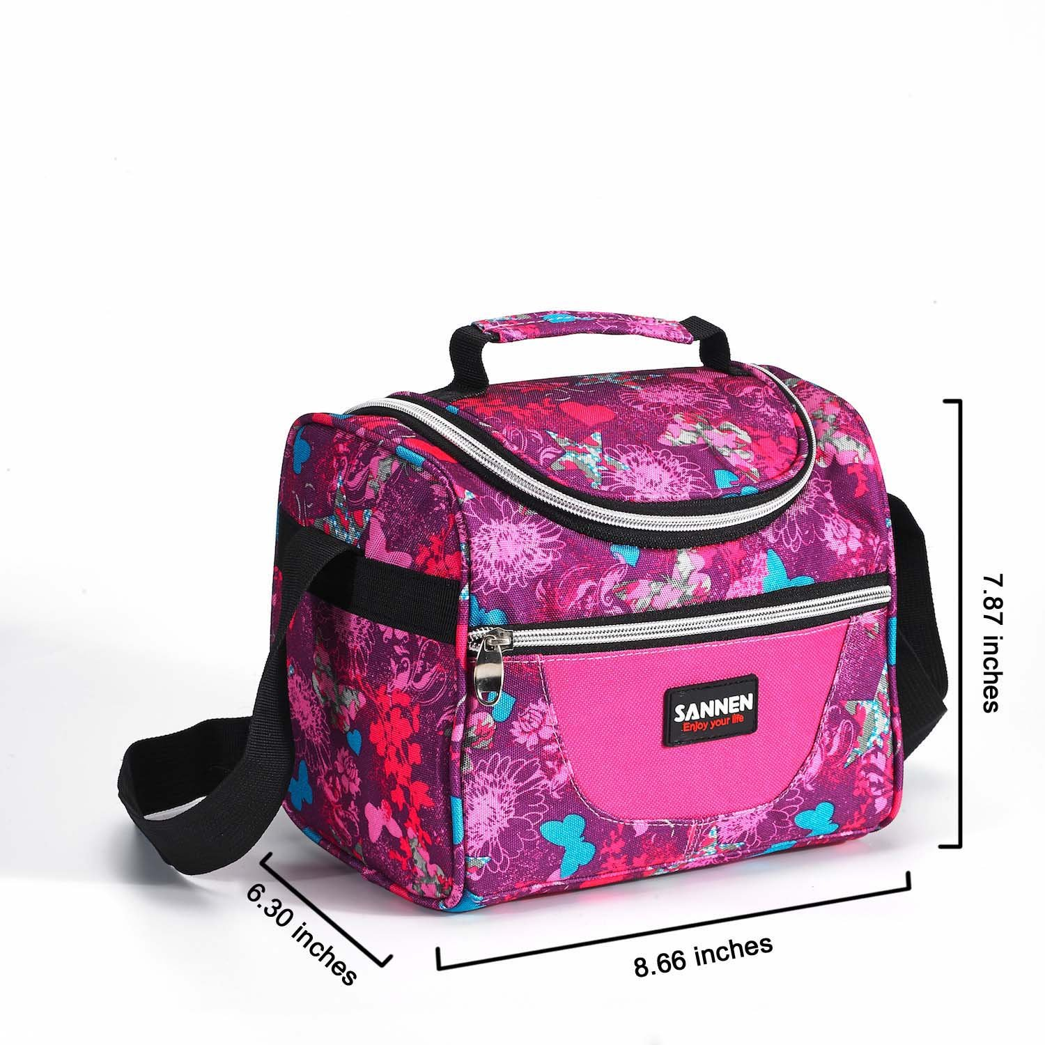 School Lunch Bag Reusable Insulated Lunch Box Tote Bag