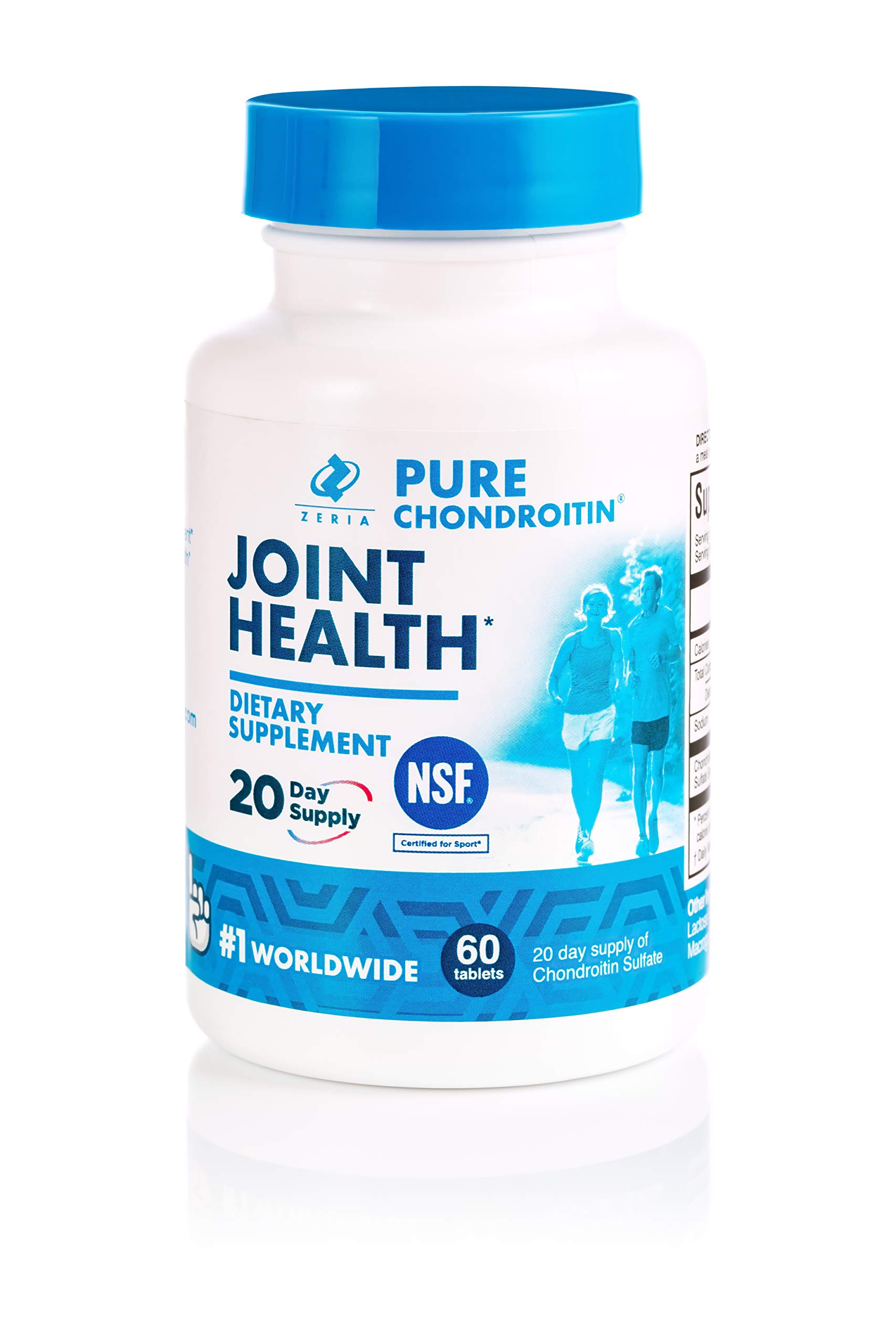 Pure Chondroitin Tablets 90 Count, 30 Day Supply, Pharmaceutical Grade & NSF Certified for Joint Health Supplement with Chondroitin Sulfate by Z Zeria