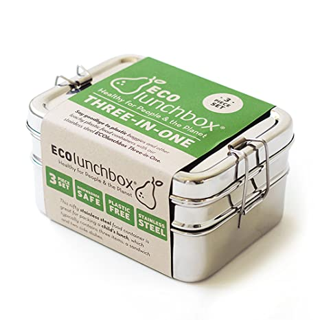 ECOlunchbox Three,In,One Stainless Food Canister \u0026 Lunch Box, Regular Size