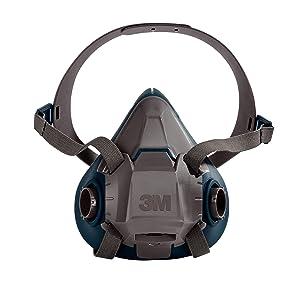 3M Rugged Comfort Half Facepiece Reusable Respirator 6503/49491, Large