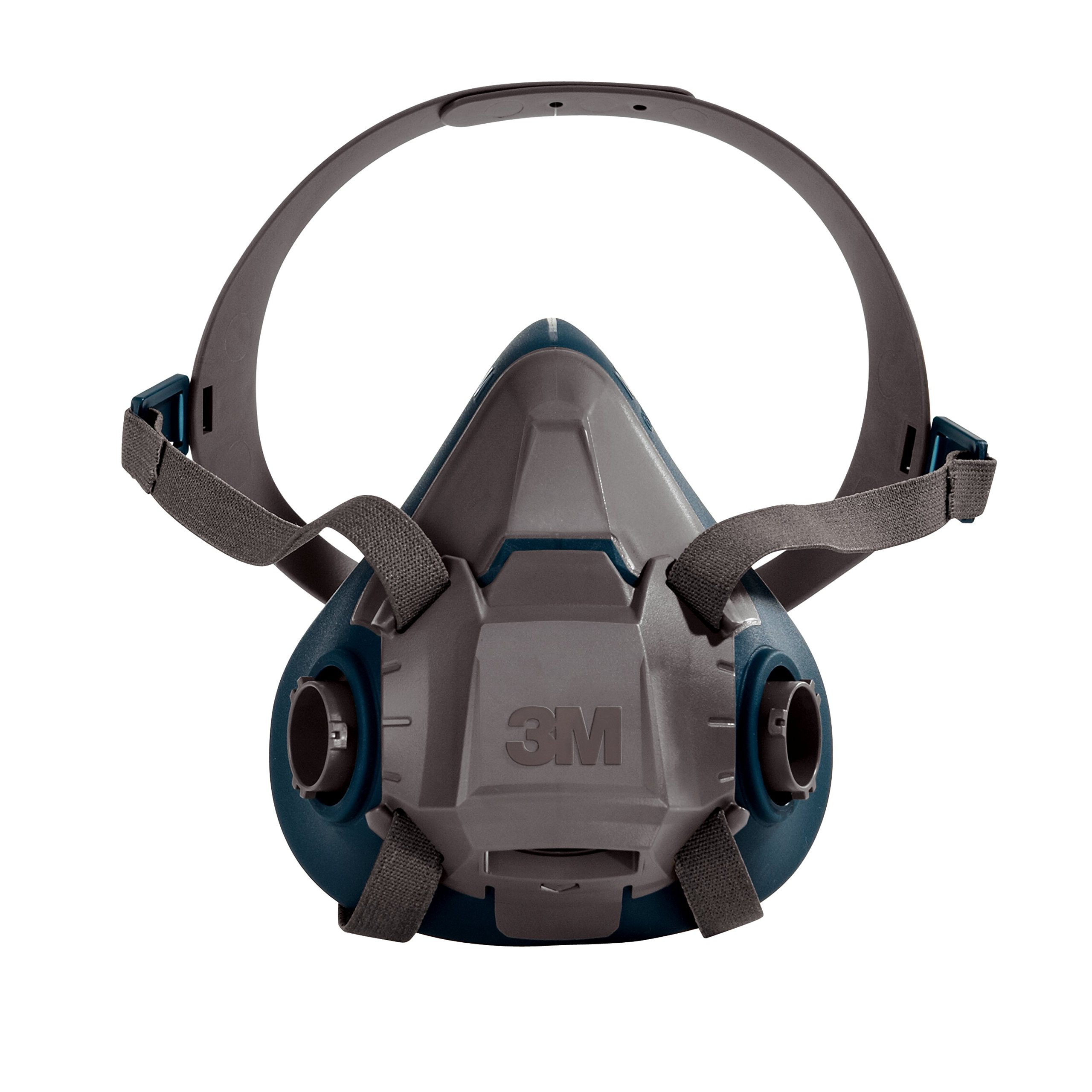 3M Rugged Comfort Half Facepiece Reusable Respirator 6502/49489, Medium, Gray/Teal