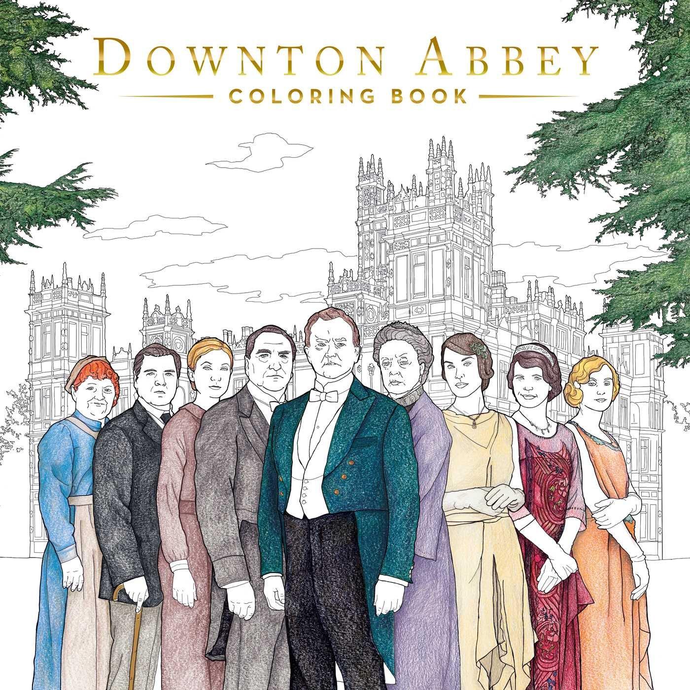 Downton Abbey Coloring Book Gwen Burns 9781499806236 Amazon Books