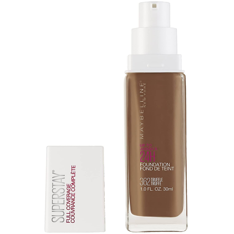Maybelline Super Stay Full Coverage Liquid Foundation Makeup, Truffle, 1 Fl Oz
