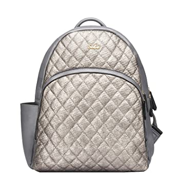ffdaf4074a952 Amazon.com : SoHo Collections Boise Baby Diaper Bag Backpack with Changing  pad Stroller Straps and Insulated Pockets 3 Pieces Set (Silver Gray) : Baby