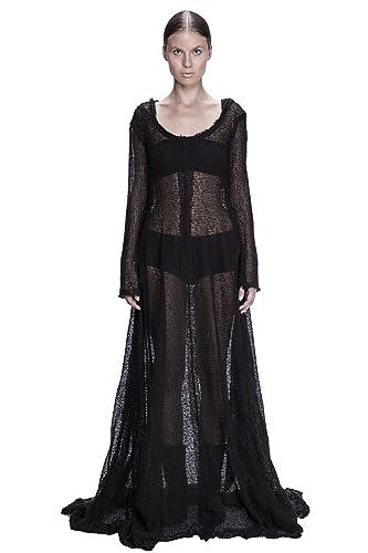 Amazon Merino Wool Knit Hooded Maxi Dress Handmade