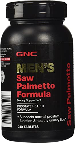 GNC Men s Saw Palmetto Formula, 240 Tablets, Supports Normal Prostate Function