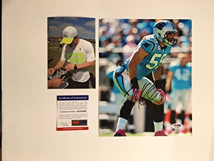 e5b8ab048 Image Unavailable. Image not available for. Color  Luke Kuechly Hot! signed  Carolina Panthers ...