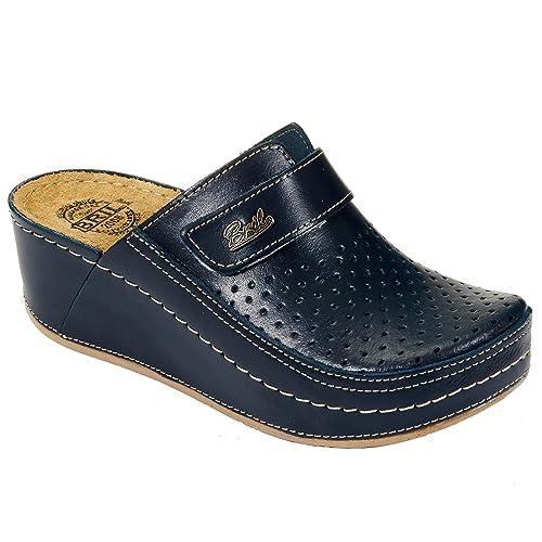 Zuecos Zapatos D130 Zapatillas Mujer Bril Dr Para Cuero Rosso De Punto 8v0myNOPnw