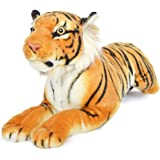 VIAHART Sandor The Sumatran Tiger | 19 Inch Large Sumatran Tiger Stuffed Animal Plush Cat | by Tiger Tale Toys