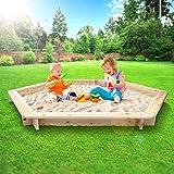 Infantastic Sabbiera per bambini di legno esagonale diametro 180 cm