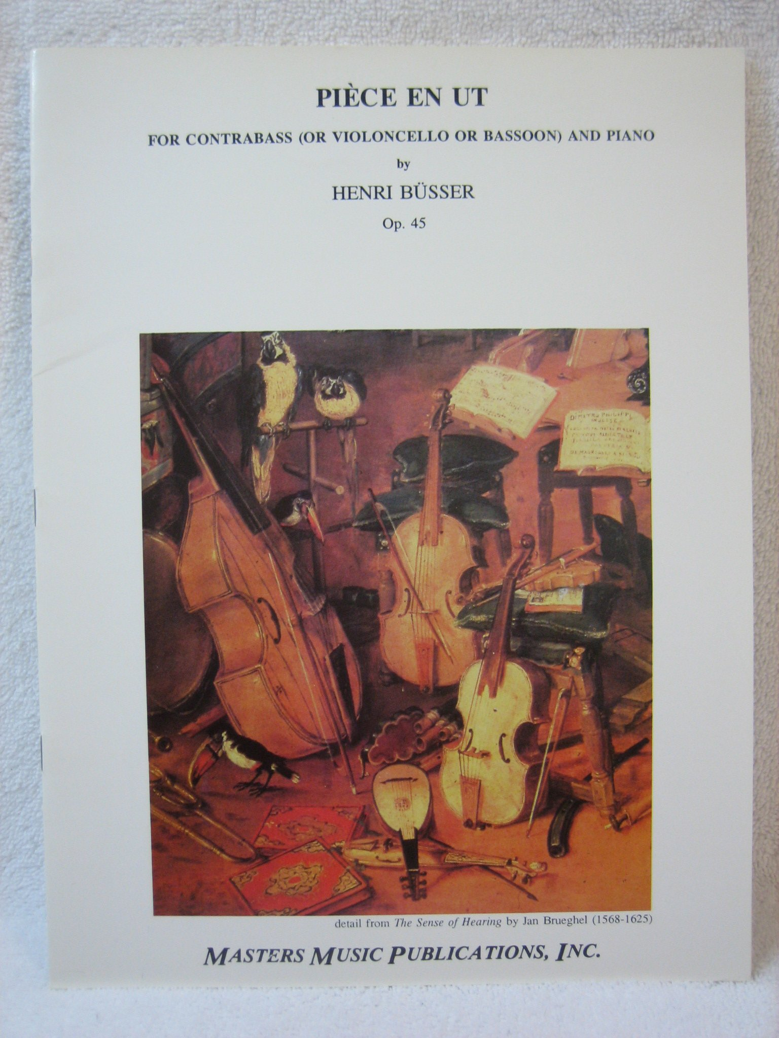 Piece En Ut for Contrabass (or Violoncello or Bassoon) and Piano - Master String Series Sheet Music