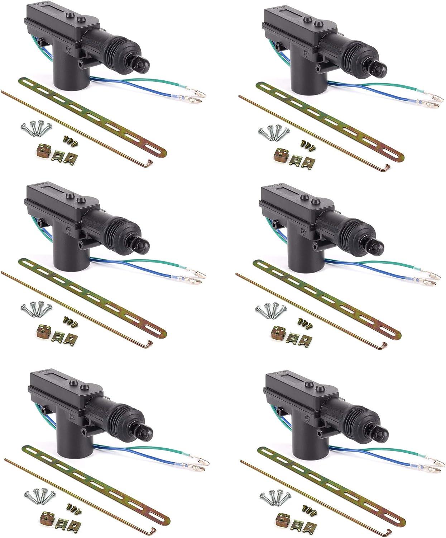 ESUPPORT Black Car Plastic Universal Heavy Duty Power Door Lock Actuator 2 Wire 12V