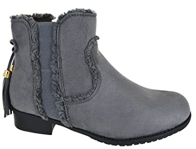 New Womens Ladies Zip Mid Heel Ankle Casual Work Chelsea Boots Shoes Size