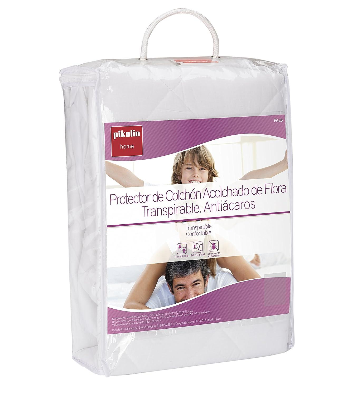 Pikolin Home - Protector de colchón acolchado cubre colchón de fibra antiácaros, transpirable, 140 x 190/200 cm, cama 140 (Todas las medidas): Amazon.es: ...
