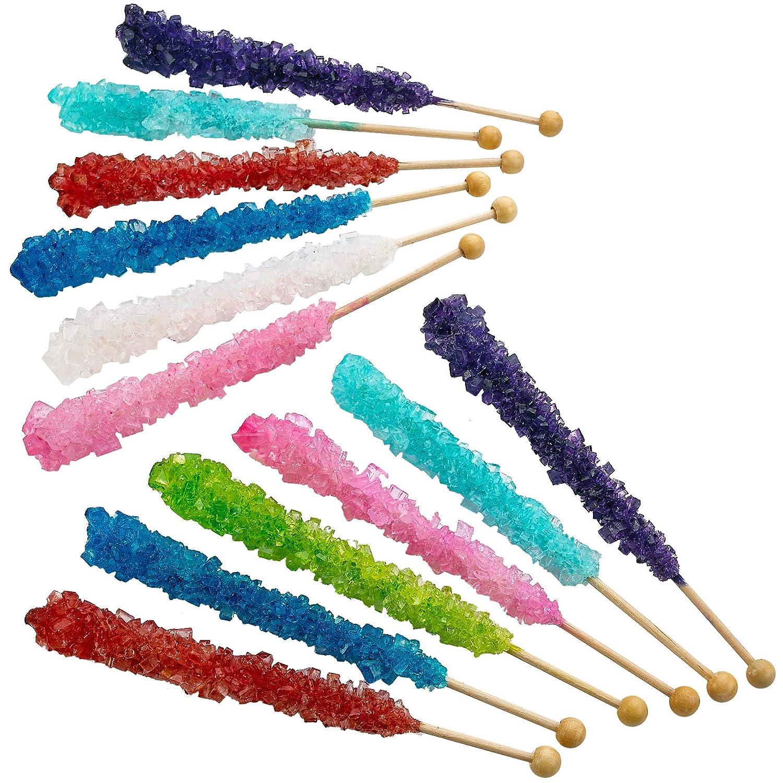 Amazon.com: Kicko Crystal Rock Candy Stick - 1 bolsa de ...