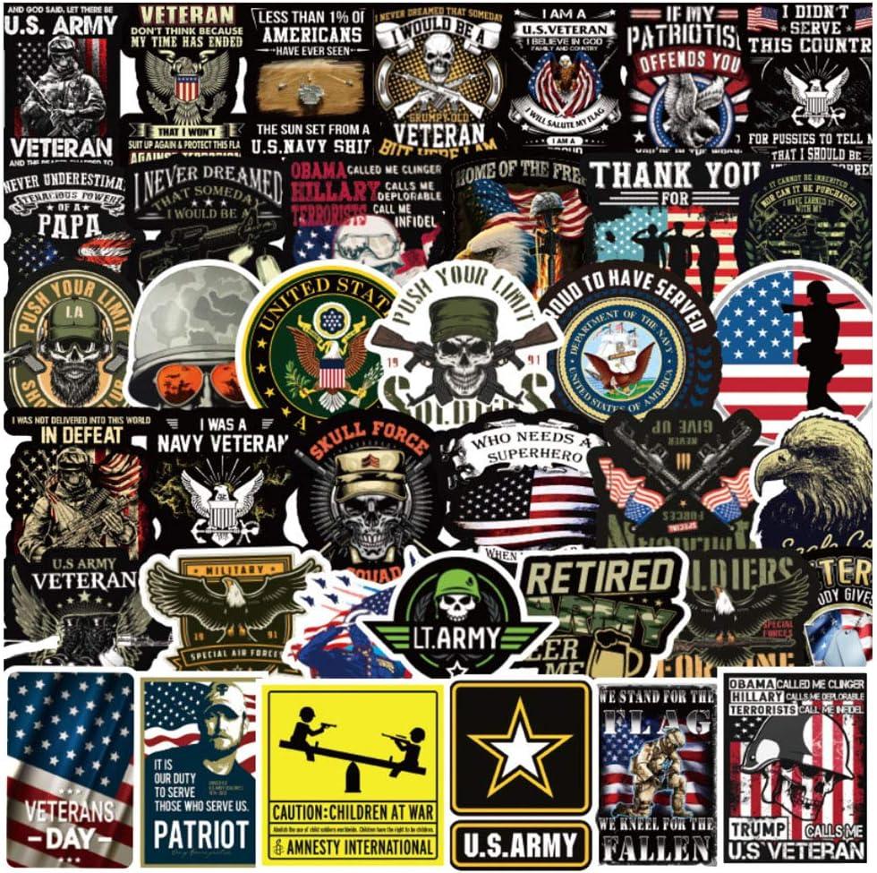 Tactical Veteran Stickers Military American USA Flag US Army US Marines Corps Air Force Navy Afghanistan Iraq Veteran for Cars and Trucks for Hardhat Helmet Toolbox Laptop Pistol Rifle Shotgun Mug Car