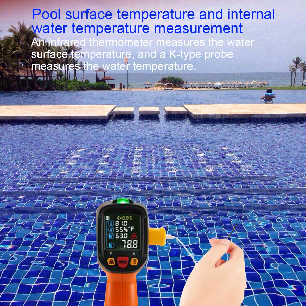 Laser Infrared Thermometer,HANMER Non Contact Temperature Gun Instant-Read -58 ℉to 1472℉with LED Display K-Type Thermocouple for Kitchen Cooking BBQ Automotive and Industrial PM6530D Thermometer by HANMATEK (Image #5)