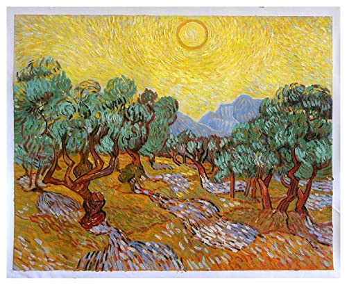 Amazon.com: Olive Trees with Yellow Sky and