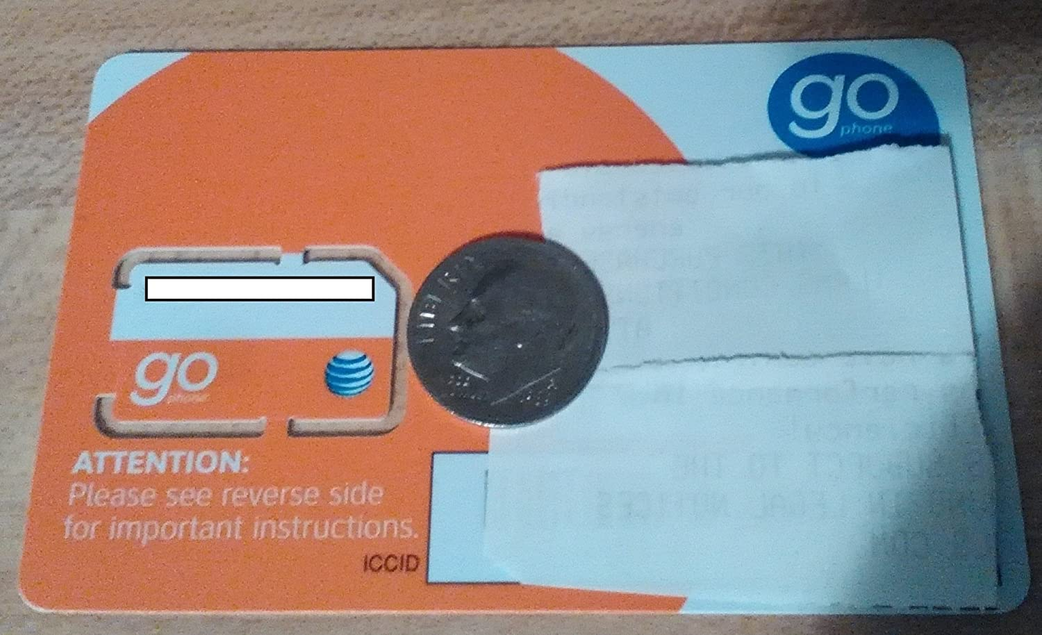 AT/&T ATT GoPhone Sim Card No Contract Required