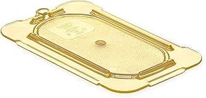 Carlisle 10536U13 StorPlus High Heat Universal Flat Surface Food Pan Lid, Ninth Size, Amber