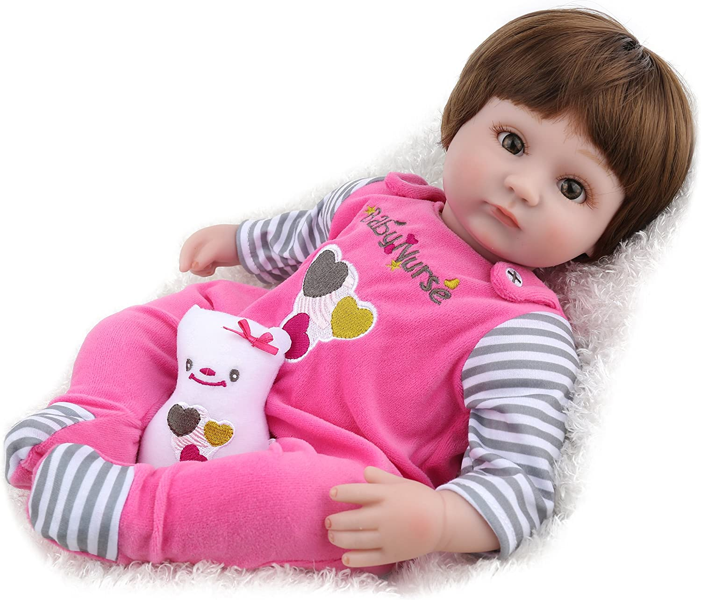 Kaydora Reborn Baby Doll Girl Handmade Huggable Baby Doll, 16 Inch Baby Doll