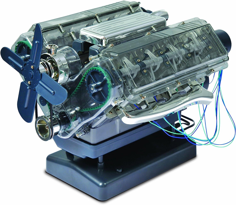 Kids Build Your Own Engine Set Sound Light Mechanic Tool Kit Children Gift Toys