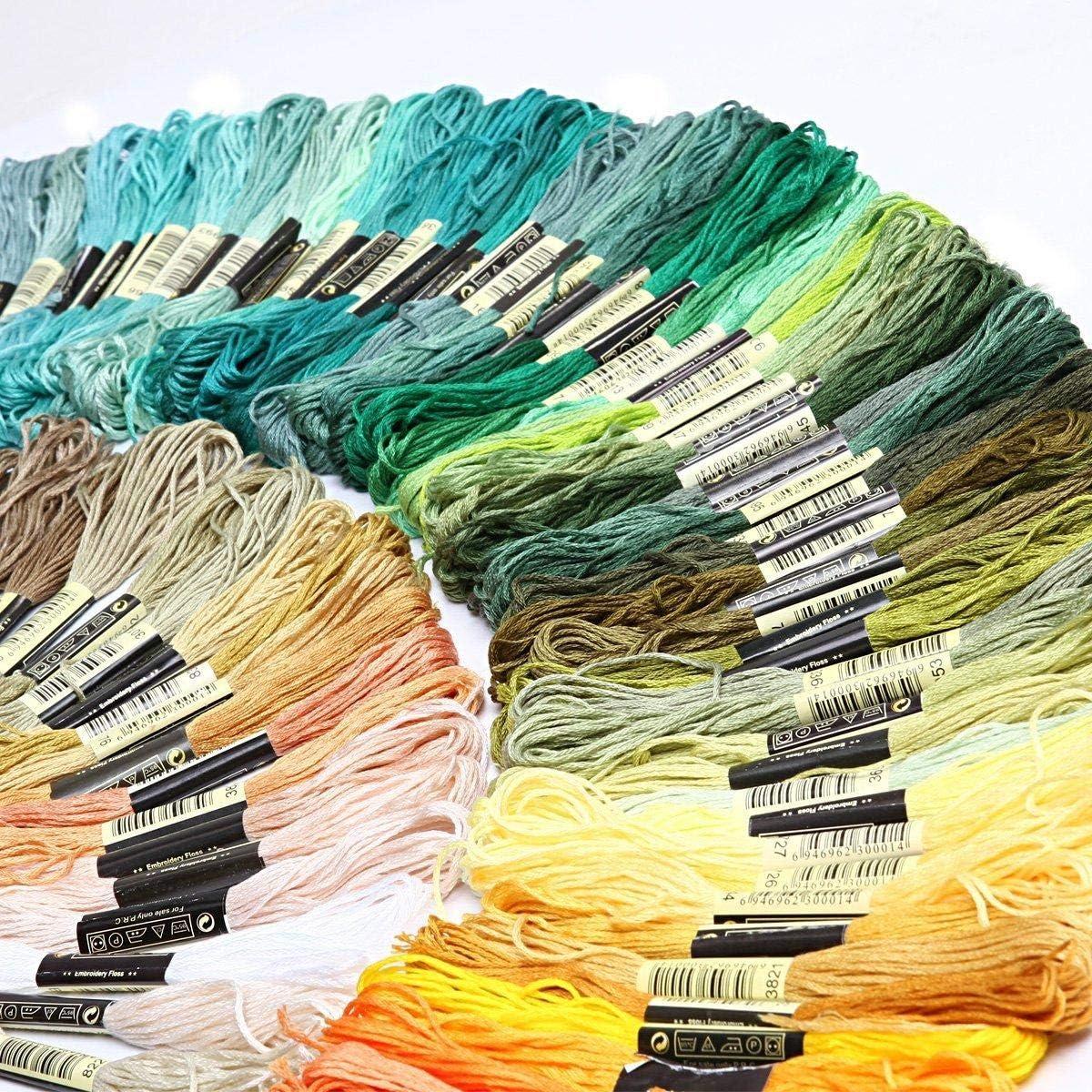 Stickgarn Kreuzstich Stickerei brasilianisches Armband 250 Farben Fablcrew Stickgarn gestrickt f/ür Stickerei Stickgarn 8 m Kreuzstich