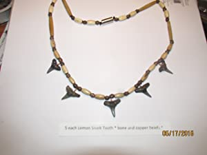"5 tooth real ""Lemon Shark Tooth"" necklace"