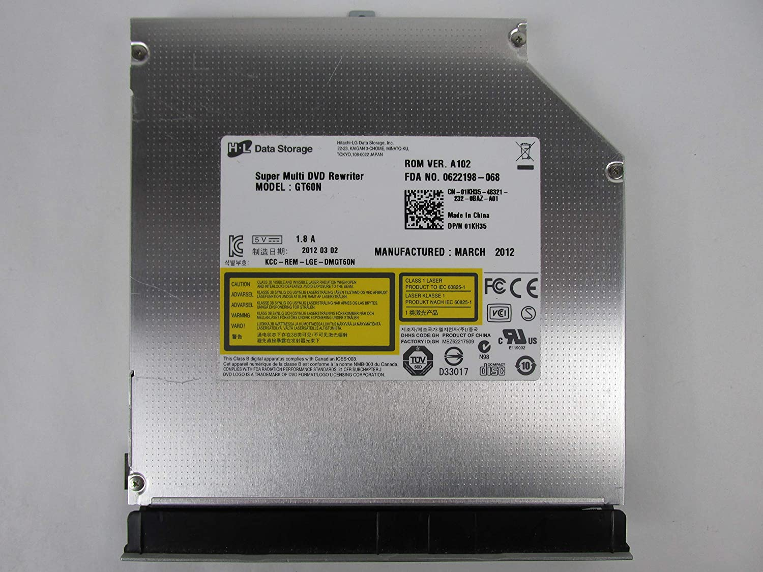 Dell DVD-RW Drive DS-8A8SH G0V0C Inspiron N5040