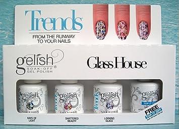 Armonía Gelish uñas kit, cristal casa 15 ml – pack de 4: Amazon.es: Belleza