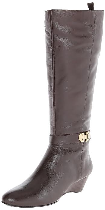 Bandolino Womens Adanna Wide Calf Black Leather - Boots